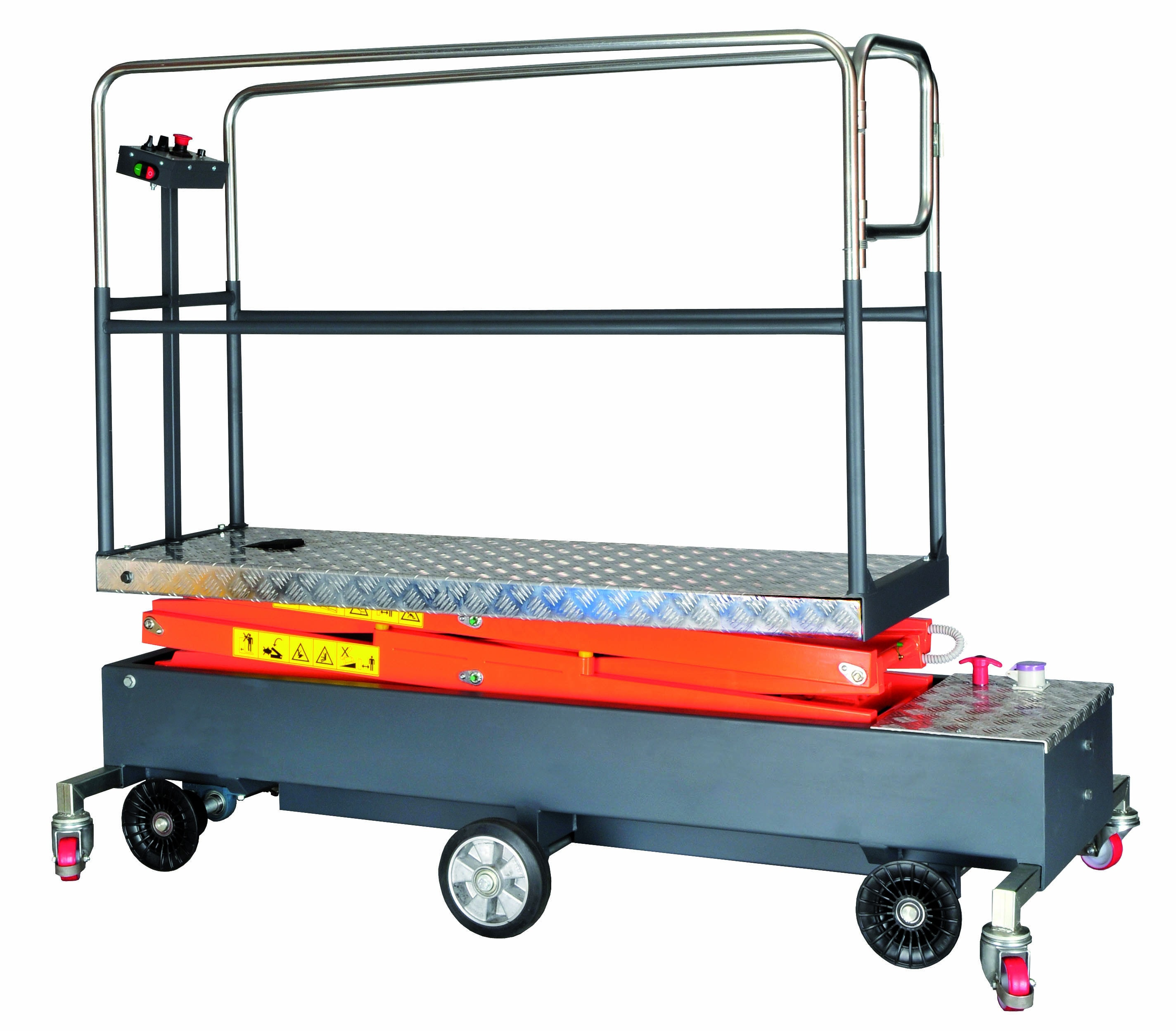 Greenhouse pipe rail trolley