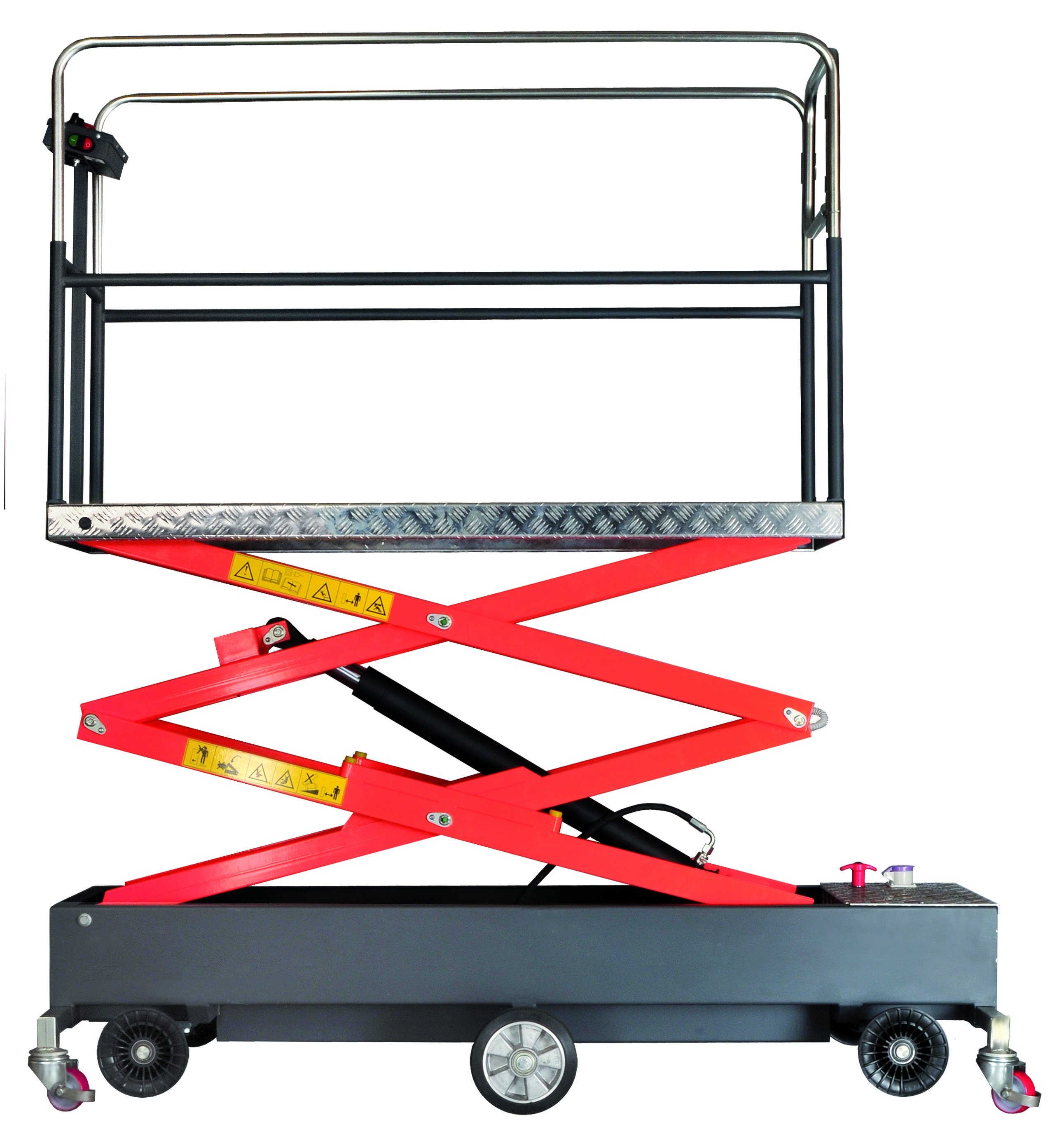 Greenhouse quad scissors trolley